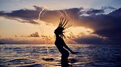 Sicilia (julienFroment) Tags: sunset beauty light colors portrait sea hairs