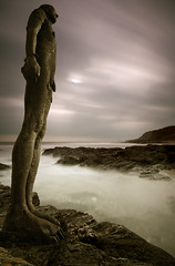 Taken from  'Another Place' (Mark Leader) Tags: another place gormley composite beach long exposure coast rocks sea water