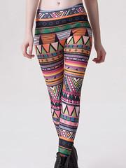 Multicolor Polyester,Spandex Stretchable Leggings (nikvikonline) Tags: leggings legging printedleggings printed capri nikvikcom nikvik desinger designer leggins