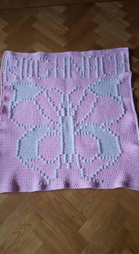 Butterfly blanket for Rioghnach