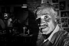 At the barber shop (Vitor Pina) Tags: street streetphotography streets shadows momentos man monochrome moments photography pretoebranco people pessoas portrait portraits urban urbano rua barber