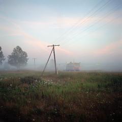 at dawn (Anton Novoselov) Tags: russia dawn village ektar film kodak