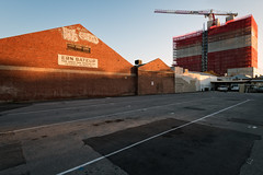 Ern Bateup (Andrew_Dempster) Tags: sa ernbateup 118grotest urban construction southaustralianheritage crane australia theusedcarspecialist carpark sunset adelaide architecture southaustralia au