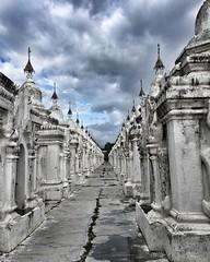 "sandamuni pagoda, #mandalay   1,774 Shrines housing inscribed marble slabs. Surrounding the central pagoda are 1,774 shrines, each housing a single marble slab. The slabs are inscribed with the teachings of the #Buddha, consisting of Sutta Pitaka, Vinaya (""guerrilla"" strategy) Tags: ifttt instagram sandamuni pagoda mandalay   1 774 shrines housing inscribed marble slabs surrounding central each single slab the with teachings buddha consisting sutta pitaka vinaya abhidhamma three baskets that make up tripitaka well commentaries sub myanmar burma southeastasia worldcommuter travel streetphotography"