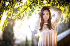 Serena (Davide Barbaro Ph) Tags: light portrait girl woman nikon sunset ritratto donna ragazza dress white