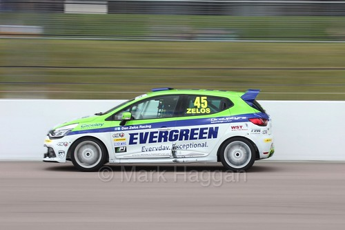 Dan Zelos at Rockingham during the Clio Cup, August 2016