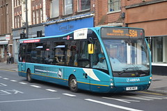 Arriva Midlands 2955 YJ61MHY (Will Swain) Tags: leicester 18th august 2016 bus buses transport travel uk britain vehicle vehicles county country england english leicestershire midlands midland city centre optare versa arriva 2955 yj61mhy