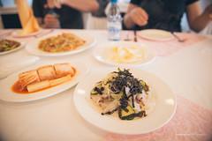 Kimchi and Nokdumuk (Mung Bean Jelly) (reubenteo) Tags: northkorea dprk food lunch dinner steamboat kimjongun kimjongil kimilsung korea asia delicacies