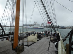 "HMS Warrior and Brittany Ferries ""Normandie"" (alanaplin) Tags: hmswarrior"