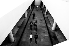 People on the triangle (dalibor.papcun) Tags: geometric streetphotography streetbudapest budapest subway triangle people blackandwhite contrast walk city citypulse bw monochromat