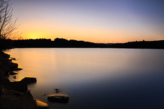 (Tim Scholz) Tags: exposure long saarland sunset lake reflexionen sonnenuntergang langzeitbelichtung 1200d eos canon see am losheim stausee