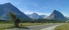 "Driving up from Babb & St. Mary to ""Many Glacier"" in north Glacier National Park. (spelio) Tags: montana usa travel 2016 kids camping explore 4049views030916 mt north glacier lake fave"