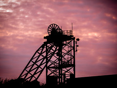 Sunset over the Old Copper Works. (hemlockwood1) Tags: anglesey copper works parys mountain industry olympus