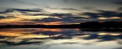 Reflet sur la baie (pascal_roussy) Tags: nature nuage clouds eau water reflet couleur color baie paysage landscape qubec canada gaspsie t summer d3100 nikon