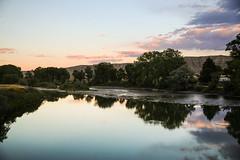 Eventide (wyojones) Tags: montana belfry clarksforkoftheyellowstone subset pool rapids cottonwoodtrees farm hills badlands reflection wyojones
