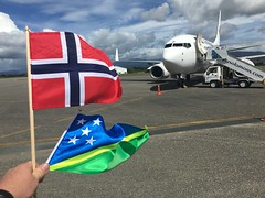 The 17th of May is Norways national day, here i flew from Solomon Islands to Vanuatu!