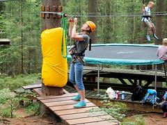 practice before start. (topzdk) Tags: treeclimbing summer 2016 czechrepublic ski slope lanovy park