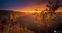 Rays Before Storm Govetts SR II (Gary Hayes) Tags: bluemountains sunrise sunset australia bush grose valley govettsleap