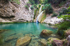 Waterfalls in Paradise (pap-x) Tags: canon greece nature 550d water landscape peloponese polylimnio waterfalls long exposure kalamata green lake pond