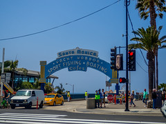 Santa Monica Pier Entrance Gate (Anthony's Olympus Adventures) Tags: santamonica santamonicapier santamonicabeach santamonicaca ca california usa america losangeles la landmark sightseeing tourist attraction icon entrance sign downtownsantamonica travel olympusem10 raw discoversantamonica
