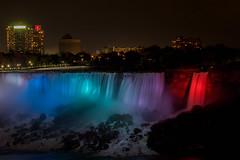 Slow Colours (isabel.monita) Tags: ontario light niagarafalls waterfalls nightphotography longexposure