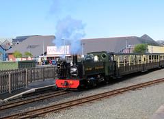 64 | Aberystwyth station  Vale of Rheidol train (Mark & Naomi Iliff) Tags: aberystwyth valeofrheidolrailway rheilfforddcwmrheidol railway steam narrowgauge loco locomotive no8 8 llywelyn