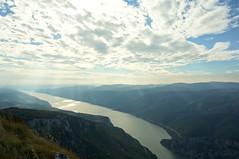 Serenity (Goran Joka) Tags: danube erdap river flow stream water sky clouds light serenity radiate infinity nature landscape outdoor serbia romania coast shore