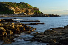 Into the Distance (Paul Hollins) Tags: aus australia newsouthwales swanseaheads chalkybeach nikond750 nikon1635mmf4 seascape rocks shore outdoor