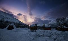 8 (Sergio Eschini) Tags: tromso viaggio travel norvegia normay snow december inverno winter crepuscolo natura landscape neve capanno