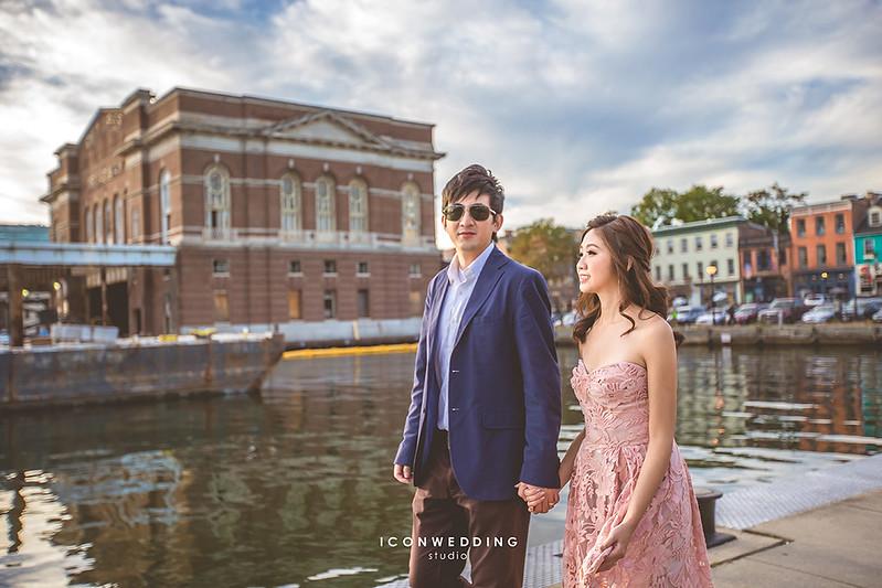 巴爾的摩市中心街景,巴爾的摩市政廳,海外婚紗,港口