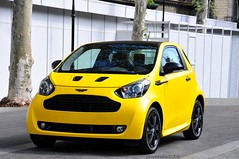 Cygnet (jansolanellas) Tags: astonishing astonmartin aston martin cygnet matte matt yellow black barcelona blackrims rims
