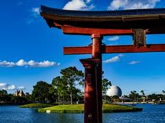 Walt Disney World - Epcot (Patrik S.) Tags: wolken clouds florida sonnig sunny usa walt orlando disney world epcot earth ball kugel space ship showcase japan
