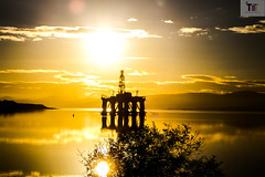 Sun Set in Scotland (AndyMWellsRBProductions) Tags: robinsbranch robinsbranchproductions canon canon1200d scotland sun lensflair landscape light flair amwells andywells
