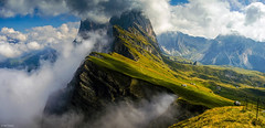 Seceda (d2francis2) Tags: sky landscape mountains travel clouds beautiful view 35mm panorama viewpoint mountain scenery amazing scenic rocky spectacular primelens nikon d5100 italy italia valgardena dolomites dolomiti seceda fermeda odle ortisei geislerspitzen jawdropping