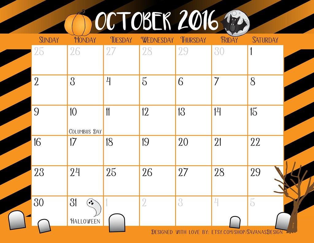October Calendar Clipart : The world s best photos by savanasdesign flickr hive mind