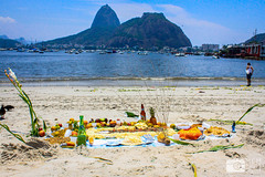 Offerings to the Sea for Rveillon in Rio de Janeiro (photosbymcm) Tags: janeiro rio de riodejaneiro brazil brasil southamerica travel south america sugarloaf reveillon offerings sea food drink sacrifice tradition praia