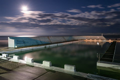 Newcastle Ocean Baths at Night 1 (stephenk1977) Tags: australia newsouthwales nsw newcastle nikon d3300 night ocean sea baths pool tidal moon reflection