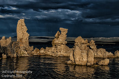 Storm Over Mono Lake Tufa (Bill Wight CA) Tags: copyright2016 billwight northamerica america unitedstates usa americanwest pacificstates california monocounty mammoth leevining highsierra sierranevada sierranevadamountains sierras monolake mono lake tufa serene mountain formations traveldestination hiking recreation atmosphere landscape nobody outdoor outdoors outside silence tourism colors composition naturalarea nature naturemanagement sensitivenaturalareas skies sky availableforlicensing photograph storm water saline clouds cloudy mood