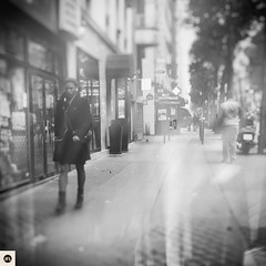 22t16 (photo & life) Tags: paris france europe ville city blackandwhite noiretblanc jfl photography photolife woman street streetphotography fujifilm fujinon fujifilmxpro2 fujinonxf23mmf2rwr squareformat squarephotography square