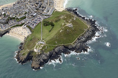 St Ives Island aerial (John D F) Tags: stives island headland cornwall nci nationalcoastwatchinstitution aerial aerialview aerialimage