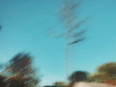 3/16 (nikaylasnyder) Tags: motion blur long exposure swirl landscape trees homes houses mcdonalds blue skies fall autumn filter