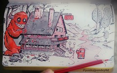 Such a scary Hotel!  #Inktober #Pankajpandey4d #Inktober2016 #monster #hotel #car #prey #scary #cruel #insane #kill #eat #forest #hidden #red #inking #brushpen #art #instartist #instaart (pankajdimension41) Tags: hotel scary inktober cruel pankajpandey4d inking car eat forest monster brushpen hidden instaart insane red inktober2016 instartist art prey kill