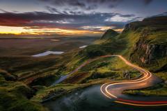 The Winding Road (devlin11) Tags: quiraing skye scotland scenery sunrise morning magic mountains mystic landscape pools road trails tranquil exposure light colour clouds coast nikon