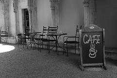 Reserved for my flickr-friends... :-) (PIXXELGAMES - Robert Krenker) Tags: news cafe kaffee vienna wien snapshot unknown candid portrait portret schwarzweiss blackandwhite blacknwhite bnw fujifilm fujinon filmsimulation lifestyle street streetstyle streetphotography streetphotographer coffee chair oldchair sun white friends downtown