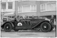 Oldtimer calling home (M. Van Cauteren) Tags: thezouterally knokkeheist oldtimer blackwhite frame panning