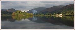 Grasmere... tones of autumn. (stu.bloggs..Dont do Sundays) Tags: landscape landscapes lakedistrict lake grasmere autumn october 2016 tones light trees hotel water reflections reflection mountains fells cumbria colours helmcrag smoke