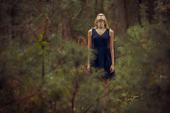 Soul Transportation (CARECOM photography) Tags: soul transportation woman sky forest woods alone meditation strong standing
