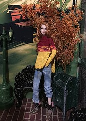 Tag Game .... The Autumn Season is here! (Land of Dolls) Tags: starbucks backdrop lantern mailbox brick tree fallbench stylemantaeden integrity fashionroyalty 16thscale sweater jeans autumntaggame