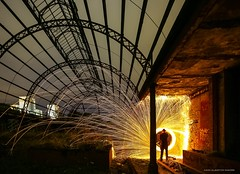 """""""People Who Live In Glass Houses..."""" (john&mairi) Tags: wirewool spin victorian glasshouse derelict dereliction abandoned springburn park glasgow glasgownight silhouette me urbex symmetry asymmetry"""