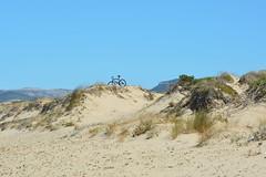 Sassari (mikael_on_flickr) Tags: sassari platamona sardegna sardinia sardinien bici bicicletta bicycle cykel fahrrad klitter dunes dune strand beach spiaggia summer sommer estate cielo himmel sky blu blue bleu blau bl sand sabbia